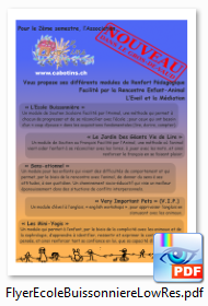 Flyer Ecole Buissonniere
